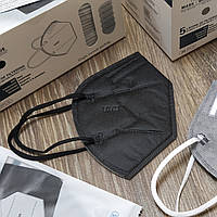 Многоразовый Респиратор KN95 в индивидуальной упаковке (чорный). Защитная фильтр-маска КН95. Купить