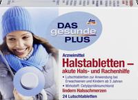 Леденцы от боли в горле Das gesunde Plus Halstabletten, 24 шт