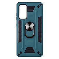Чехол Robot Case with ring for Samsung S20 FE Тёмно-Зелёный, фото 1