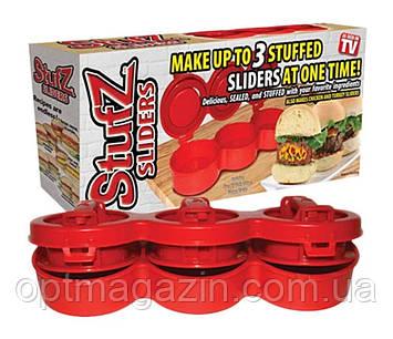Ручной пресс для приготовления гамбургеров Stufz Sliders, прибор для бургеров Стафз Слайдерс, фото 2