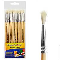Набор кистей для рисования №6 Plumeria цена за 25 шт, коза, дерево, кисть для красок, кисть для рисования