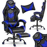 Спортивне крісло SOFOTEL ЧОРНО-СИНЄ Игровое кресло геймерское Геймерське крісло Компютерне крісло Стул игровой
