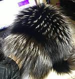 Женская шапка барбара с полоской из меха чернобурки, фото 7