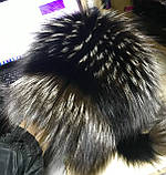 Жіноча шапка барбара з смужкою з хутра чорнобурки, фото 7