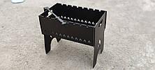 Мангал чемодан на 8 шампуров крашеный с декоративным изображением, фото 3