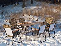 """Складные столы и стулья для дачи, природы, отдыха, пикника, кемпинга, туризма """"Патриот О2+6"""" 2 стола +4 кресла"""