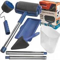 Валик для покраски помещений PAINT ROLLER ручка 30-50 см, пластик, валик для покраски, валики