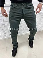 Зеленые джинсы Lacoste