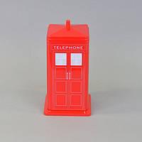 """Банка для хранения сыпучих продуктов """"Telephone"""" CF597, размер 21х9 см, жесть, красная, емкость для хранения"""