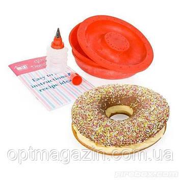 Форма силиконовая для выпечки гигантских пончиков Giant doughnut maker, фото 2