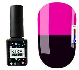 Гель-лак Kira Nails Termo T01 (темно-баклажановий, при нагріванні темна фуксія), 6 мл