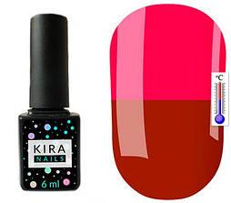 Гель-лак Kira Nails Termo T03 (червоно-коричневий, при нагріванні яскраво-рожевий), 6 мл