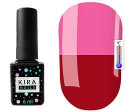 Гель-лак Kira Nails Termo T04 (бордовий, при нагріванні темно-ліловий), 6 мл