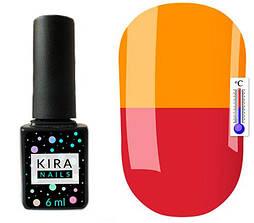 Гель-лак Kira Nails Termo T06 (приглушено-малиновий, при нагріванні насичений помаранчевий), 6 мл