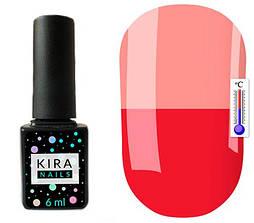 Гель-лак Kira Nails Termo T09 (малиновий, при нагріванні блідо-рожевий), 6 мл