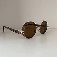 Солнцезащитные очки круглые P1 коричневый, фото 1