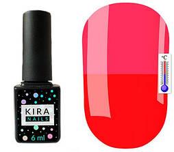 Гель-лак Kira Nails Termo T11 (червоний, при нагріванні яскраво-рожевий), 6 мл