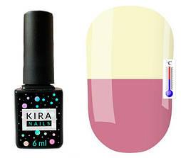 Гель-лак Kira Nails Termo T12 (чайний рожевий, при нагріванні жовтий), 6 мл