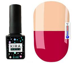 Гель-лак Kira Nails Termo T15 (рожево-малиновий, при нагріванні світлий, персиково-рожевий), 6 мл
