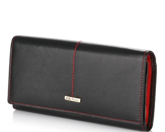 Гаманець ALFA RICCO 3430 Black/Red LB