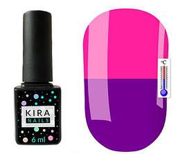 Гель-лак Kira Nails Termo T22 (синьо-фіолетовий, при нагріванні темно-рожевий), 6 мл