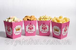 Коробочка для попкорна и сладостей Принцесса сердечки