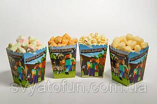 Коробочка для попкорна и сладостей Майнкрафт
