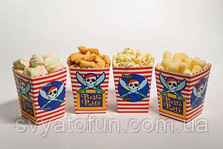 Коробочка для попкорна и сладостей Пираты