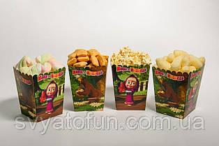 Коробочка для попкорна и сладостей Маша и Медведь