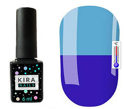 Гель-лак Kira Nails Termo T23 (світло-синій, при нагріванні блідо-блакитний), 6 мл