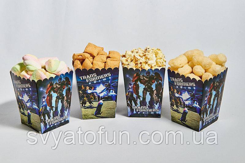 Коробочка для попкорна и сладостей Трансформеры
