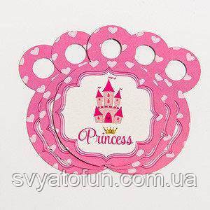 """Медальки """"Принцеса"""" (сердечка) 10шт/уп"""