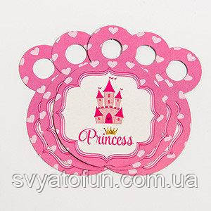 Медальки Принцесса сердечки 10шт/уп