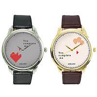 """Парные Наручные часы для влюбленных 2 пары в комплекте """"you comlete me"""""""