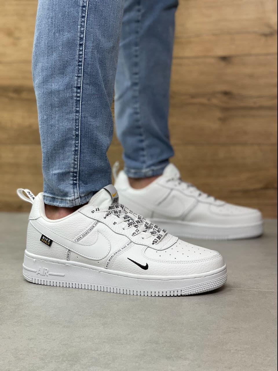 Мужские кроссовки Nike Air Force 1 Worldwide | All white