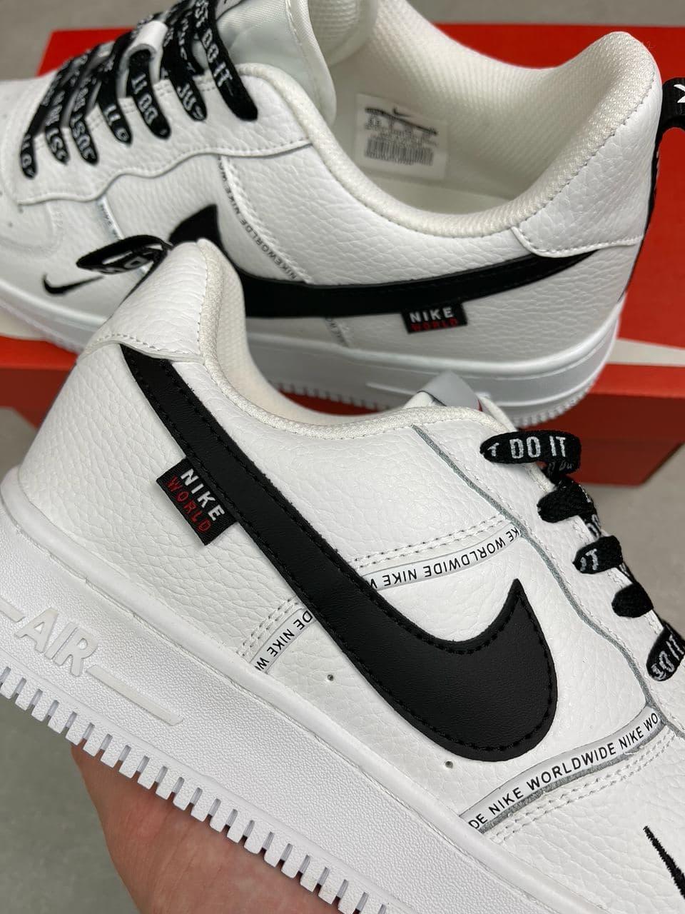 Мужские кроссовки Nike Air Force 1 Worldwide | All white/ black
