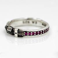 Уникальное серебряное кольцо с рубинами от WickerRing