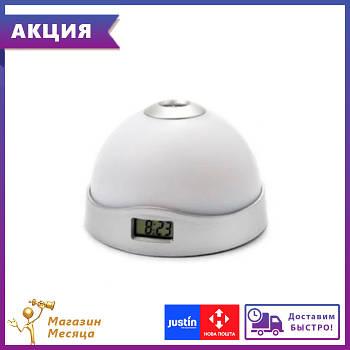 Ночник-часы проектор времени и звездного неба - LED светильник