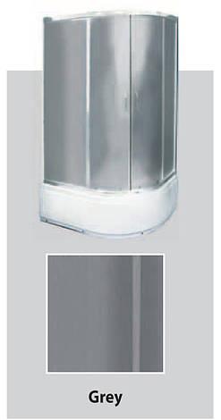 Душевая кабина полукруглая BADICO SAN 9021 Grey 90х90х200 с поддоном и сифоном, фото 2