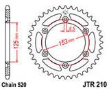 Звезда задняя стальная  JT JTR210.51SC JT Sprockets, фото 2