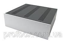 Корпус металевий з алюмінієвою панеллю MB-21 (Ш320 Г310 В100) чорний, RAL9005(Black textured)