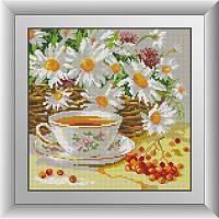 """Набор алмазной живописи (квадратные, полная) Натюрморт """"Полуденный чай"""", Dream Art."""