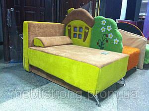 Детский диван с нишей для ребенка Теремок - коричневый цвет