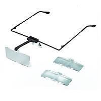 Лупа-очки бинокулярная, MG19157, кратное увеличение: 1,5Х; 2,5Х; 3,5Х кратное.