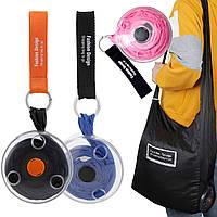 Складная компактная сумка-шоппер Shopping Bag To Roll Up (случайный цвет) (14666)