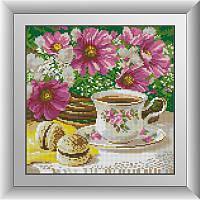 """Набор алмазной живописи (квадратные, полная) Натюрморт """"Утренний чай"""", Dream Art."""