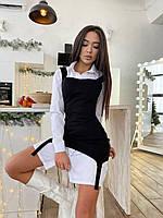 Плаття з подовженою бавовняної сорочкою стильне жіноче Smm5307