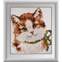 """Набор алмазной живописи (квадратные, полная) Животные """"Зеленоглазый котенок"""", Dream Art."""