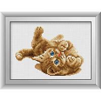 """Набор алмазной живописи (квадратные, полная) Животные """"Комочек счастья"""", Dream Art."""