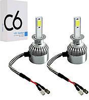 СветоДиодные лед лампы H1/C6 аш1 для в автоМобиля в головные фарЫ лед Машину лампочки головногоСвета